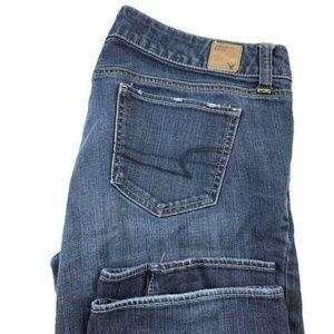 American Eagle Straight Leg Blue Stretch Jeans
